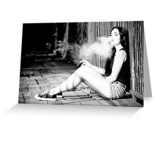 Smoking Beauty Greeting Card