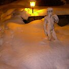David in the Snow at Night by Michael Brewer