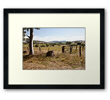 Rural Scene outside Gresford, NSW Australia Framed Print