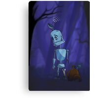 Searching robot Canvas Print