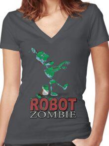 Zombot Women's Fitted V-Neck T-Shirt
