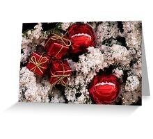 Christmas red and white Greeting Card