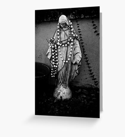 Black Mary Greeting Card