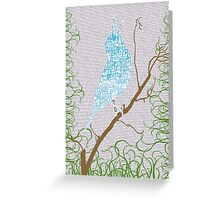 Pretty Voice Note Card Greeting Card