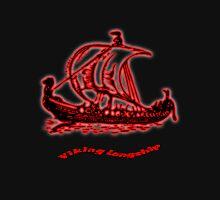 A digitally modified image of a Viking Longship T-shirt T-Shirt