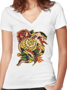 Spitshading 030 Women's Fitted V-Neck T-Shirt