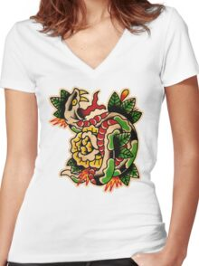 Spitshading 033 Women's Fitted V-Neck T-Shirt