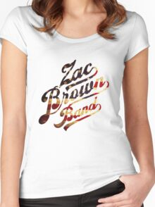 Zac Brown Band American Logo Women's Fitted Scoop T-Shirt