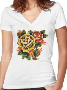 Spitshading 035 Women's Fitted V-Neck T-Shirt