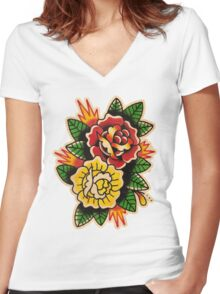 Spitshading 038 Women's Fitted V-Neck T-Shirt