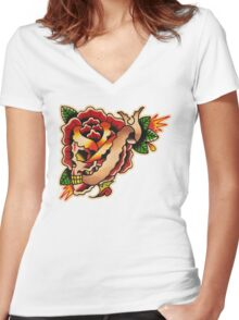 Spitshading 040 Women's Fitted V-Neck T-Shirt