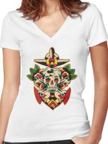 Spitshading 042 Women's Fitted V-Neck T-Shirt