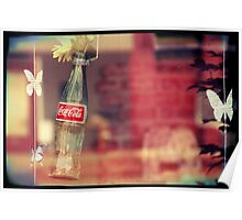 Pop Bottles and Butterflies Poster