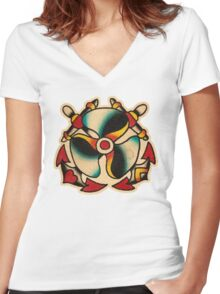 Spitshading 045 Women's Fitted V-Neck T-Shirt
