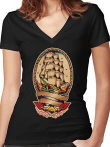 Spitshading 047 Women's Fitted V-Neck T-Shirt