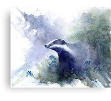 Water colour Badger Metal Print