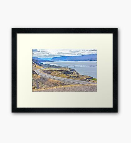 Crossing the Columbia River, Washington State Framed Print