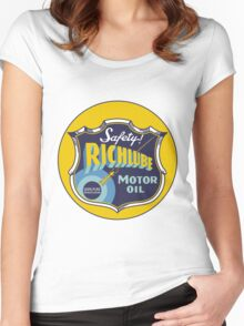 Richlube Vintage Motor Oil Women's Fitted Scoop T-Shirt