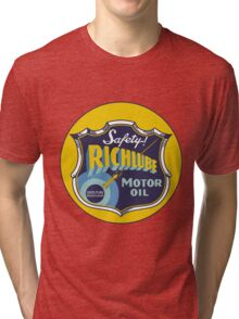 Richlube Vintage Motor Oil Tri-blend T-Shirt