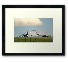 2 747's and a DC 8  Framed Print