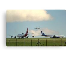 2 747's and a DC 8  Canvas Print