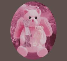 Ƹ̴Ӂ̴Ʒ LOVE AND AFFECTION FROM A BEARY SPECIAL ANGEL TEE SHIRT GUARDIAN ANGEL PINK FOR GIRLS Ƹ̴Ӂ̴Ʒ by ╰⊰✿ℒᵒᶹᵉ Bonita✿⊱╮ Lalonde✿⊱╮