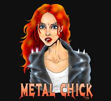 Metal Biker Chick Redhead Womens Fitted T-Shirt