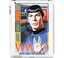 What would Spock do? Star Trek. iPad Case/Skin