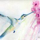 Blue hummingbird by Ruth Nolan