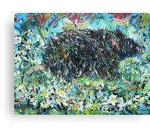 RAT IN THE FLOWERS Canvas Print