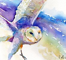 Purple owl by Ruth Nolan