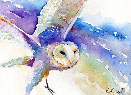 Purple owl by Ruth Nolan