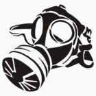 Gas Mask Stencil  by GregWR