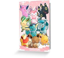 EEVEELUTIONS - POKÉMON Greeting Card