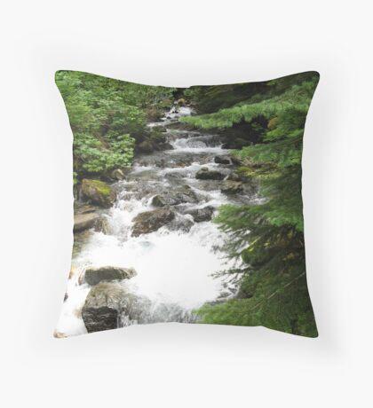 Mountain Stream Throw Pillow