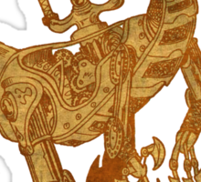 Clockwork Velociraptor Sticker