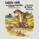 Mr. Hyena, Two Sadakas - black text by Tim Cowley