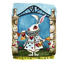 The White Rabbit - Announcing  Photographic Print