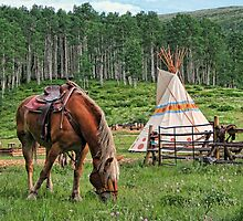 Grazing At The Outpost by Gene Praag