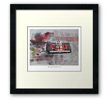 Niki Lauda 1976 Ferrari 312T Framed Print