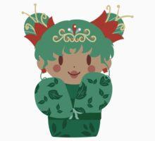 Green Leaf Kokeshi by SaradaBoru