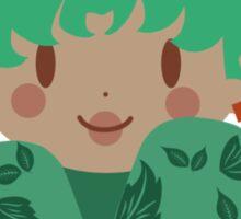 Green Leaf Kokeshi Sticker