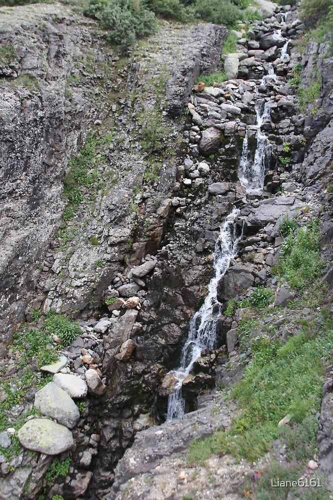 Epic Mountain Streaming Waterfall by Liane6161