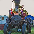 Moose the Traction Engine as the was Sunsetting by Avril Harris