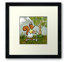 Veve is keen on sports Framed Print