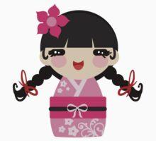 Pink Kokeshi by SaradaBoru