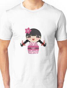 Pink Kokeshi Unisex T-Shirt