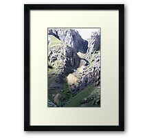 Streaming Waterfall Framed Print