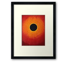 Black Hole Sun original painting Framed Print