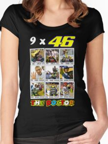 Valentino Rossi 46: The only real nine times World Champion Women's Fitted Scoop T-Shirt